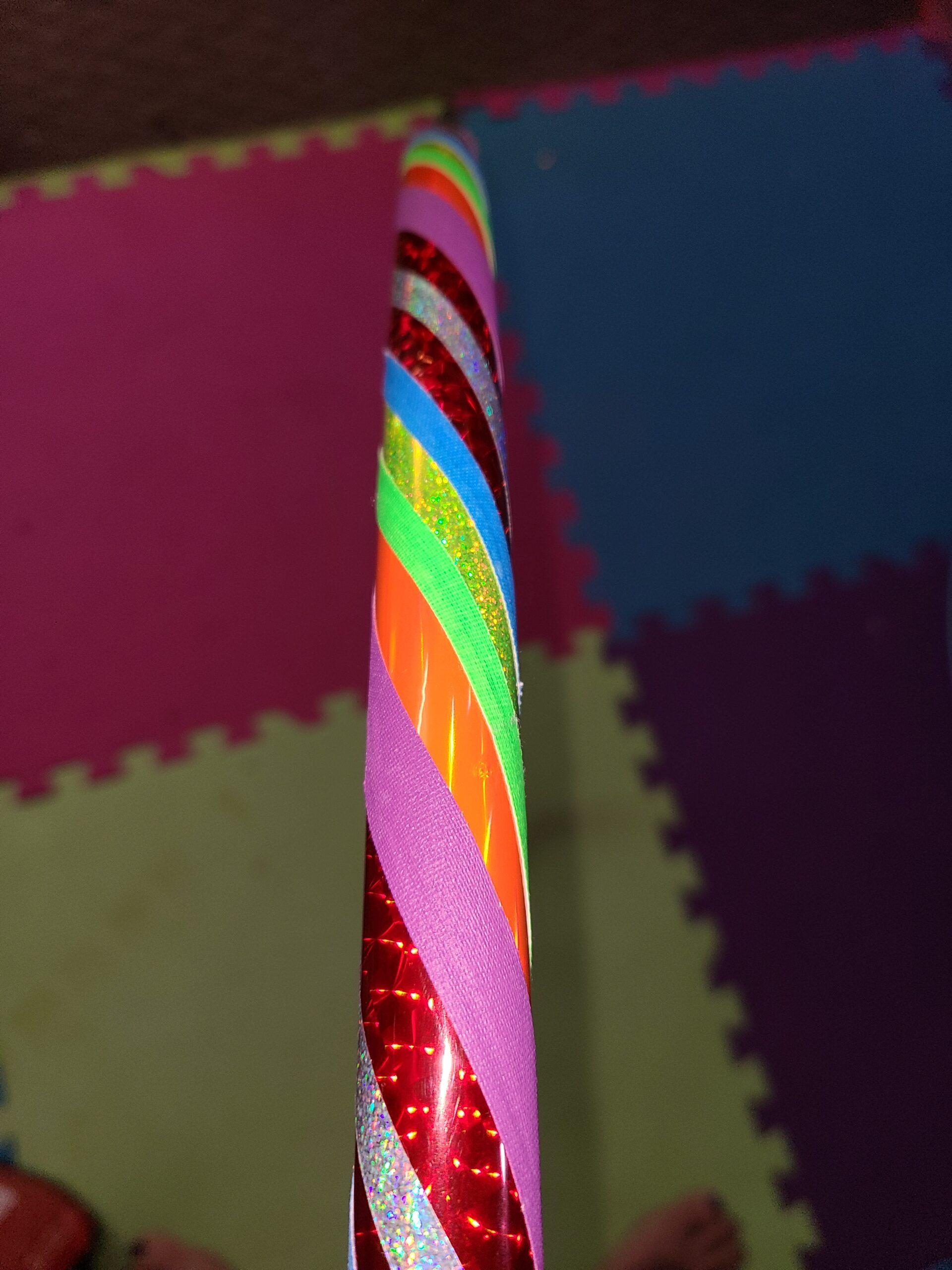 Rainbow hula hoop