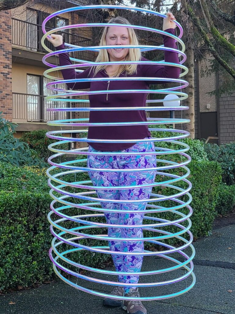 taped hula hoop slinky
